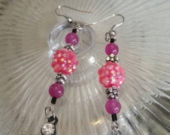 Pink Berry Dangle Earrings