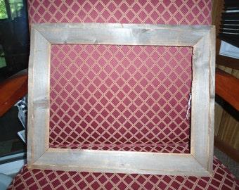 Vintage, Antique Frame, Wood Frame, Rustic, Home Decor, Gift for Her, Country Cottage, Gift for Him, Primitive Frame, Shabby Chic, Large