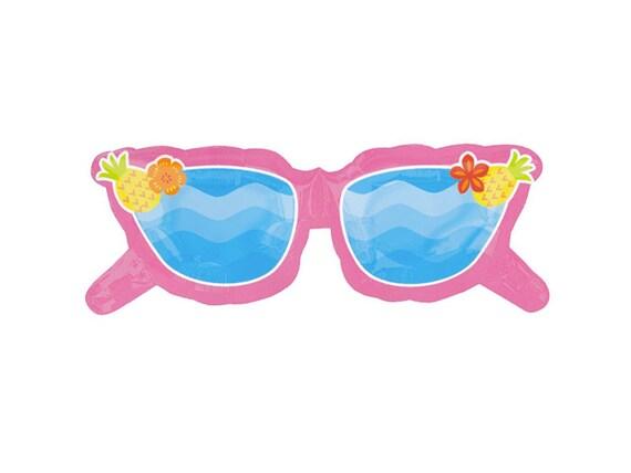 sonnenbrille pink jumbo mylar folie party ballon. Black Bedroom Furniture Sets. Home Design Ideas