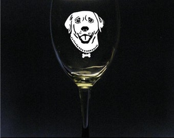 Labrador Retriever Wine Glasses (Set of 2)