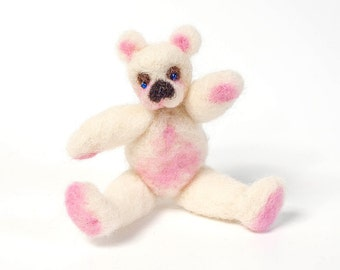 White and pink teddy