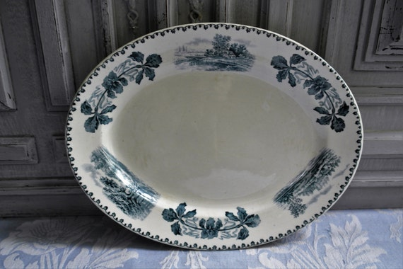 old & antique transferware - Laurel Leaf