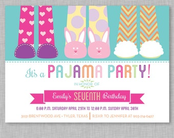 Pajama Party Sleepover Invitation