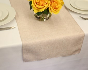 Ivory Faux Burlap Table Runner | Burlap Runner
