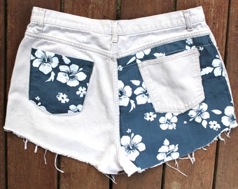 Custom Booty Shorts Cutoff Jeans High Waisted Denim 38 Waist