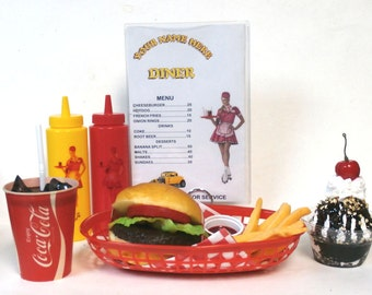 Cheeseburger meal/fries w/60's coke