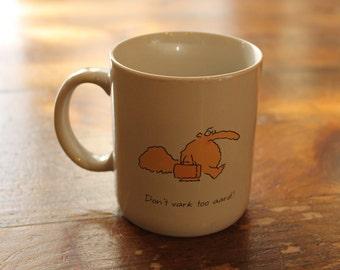 """Vintage Hallmark """"Don't Vark Too Aard!"""" Aardvark and a Briefcase Mug"""