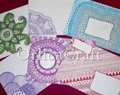 Handcrafted doodles envelopes sets 5 pieces - very original for your penpals - mix if you want