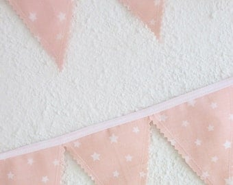 MINI Fabric Flag Banner Bunting, Peach Nursery