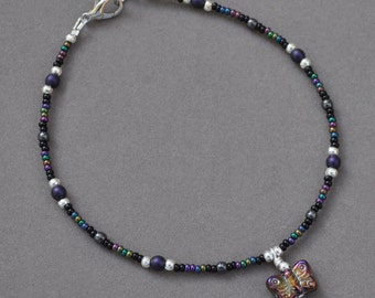 Iridescent Butterfly Anklet