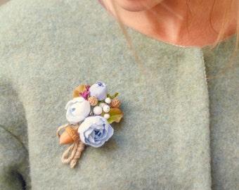 Woodland brooch Flower brooch