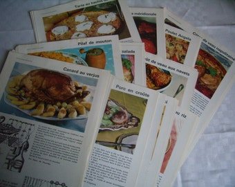 Ephemera, Vintage recipes, Menus, tips, guides, 1961