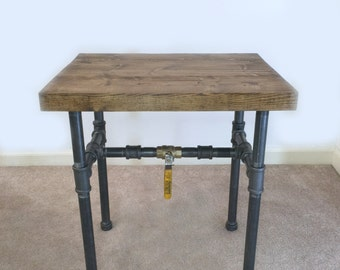 Industrial Side Table, End Table, Pipe Table, Industrial Decor, Bedside  Table,