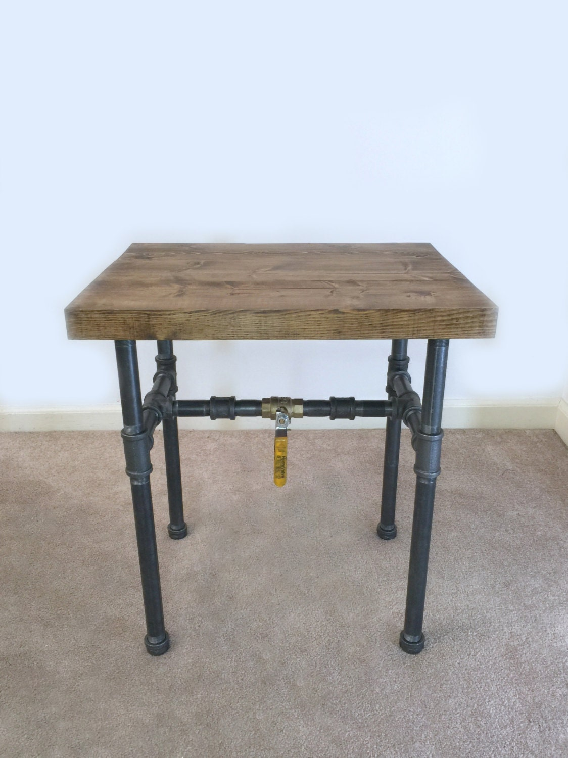 industrial side table end table pipe table industrial. Black Bedroom Furniture Sets. Home Design Ideas