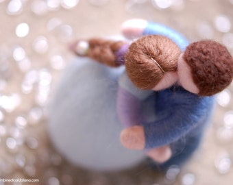 I & Te, Wool fairy tale, Waldorf inspiration