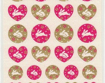 Rabbit Stickers - Paper Stickers - Easter Stickers - Reference T2126-27H3275-76