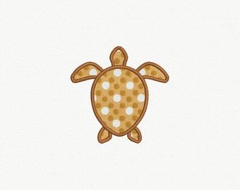 Turtle Applique Machine Embroidery Design - 3 Sizes