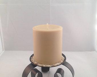 12oz Soy Cinnamon Vanilla Pillar Candle