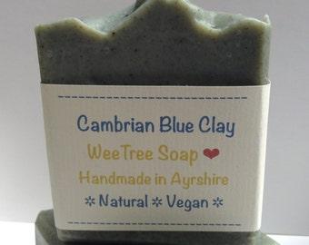 Cambrian Blue Clay Natural Vegan Handmade Soap Bar