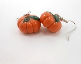 Pumpkin Earrings Halloween jewelry Thanksgiving hooks fall earrings autumn jewelry pumpkin harvest festival jewelry pumpkin patch dangles