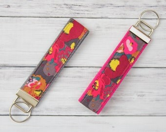 Wristlet Keychain **FREE SHIPPING**, Keychain, Keyfob, Cloth Keychain, Girly Keychain, Teacher Appreciation, Keychain Wristlet, Key Chain