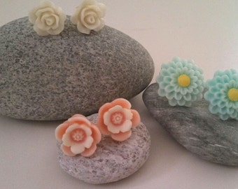 Resin Posy Earrings - Set of Three!