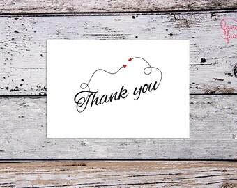 Thank you card - sweethearts