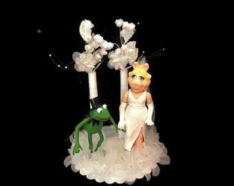 Wedding Cake Topper - Miss Piggy and Kermit the Frog- The Muppets