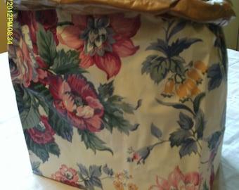Grocery Bag Wastebasket--Wallpapered
