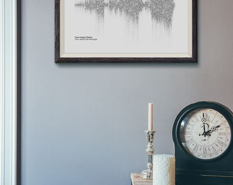 Personalised Favourite Song Lyric Soundwave Print