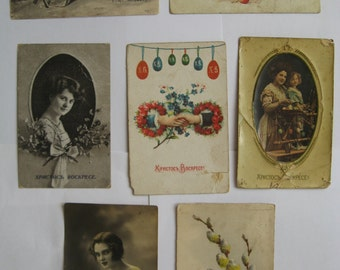 Vintage Russian photos of 7 pieces. 1900-1930