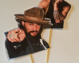 12 Count Jason Momoa Cupcake Toppers / Food Picks