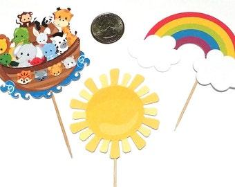 Noah's Ark -  Cupcake Toppers, 12 Count Assortment