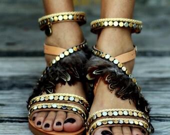 """Sandals """"Erinyes"""" (handmade to order)"""