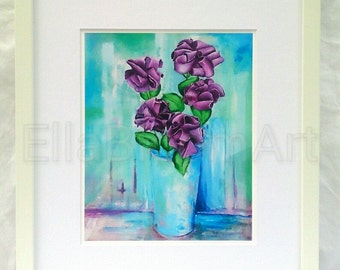 Flower print, floral print, roses print, fine art flower print, still life print, still life floral print, fine art painting, roses art