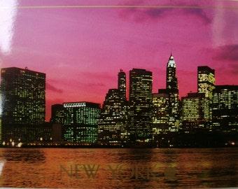 Vintage New York postcard. 1988. Ephemera.Collectible.Stationery. Vintage USA postcards. Rare. UnusedUSA postcards.Photography postcard.
