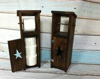 Rustic Toilet Paper Holder With Storage, Toilet Paper Storage Cabinet 25