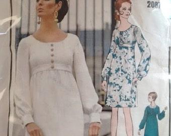 Vintage 1960's Vogue Paris Original 2087 Christian Dior Mini Midi Maxi Dress Sewing Pattern
