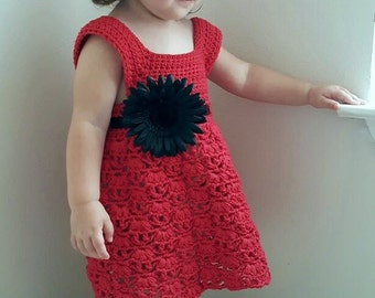 Weeping Willow Toddler Dress Crochet Pattern - PDF FILE ONLY - Instant Download