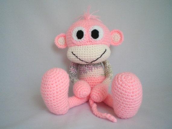Cheeky Monkey Amigurumi Crochet Pattern : Crochet Monkey / Amigurumi Cheeky Monkey / Cuddly soft toy