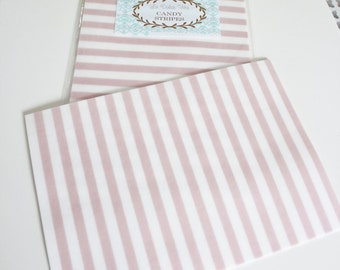 12 x sheets of A4 coloured wafer paper - 'Candy Stripes' WRAPAROUND set
