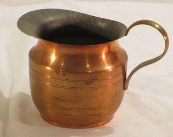 Vintage Copper Pitcher Water Pitcher