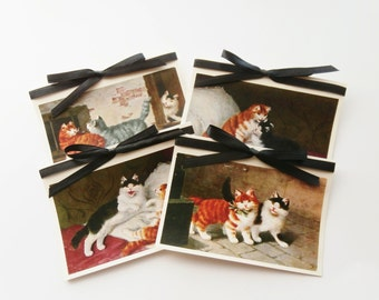Cat Note Card Set, Cat Stationery, Blank Note Cards, Cat Cards, Kitten Cards, Cute Thank You Cards, Cat Birthday Cards, Sweet Greeting Cards