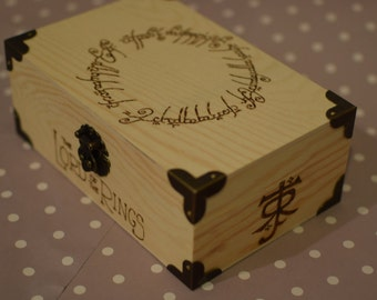 The One Ring LOTR Wooden Box