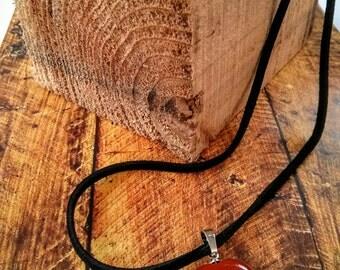 Red Jasper Gemstone Heart Pendant Necklace