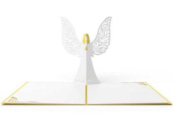 Angel Pop Up Card, Holiday Card, Christmas Card, Seasons Greetings, Lovepop