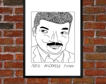 Badly Drawn Neil deGrasse Tyson - Poster