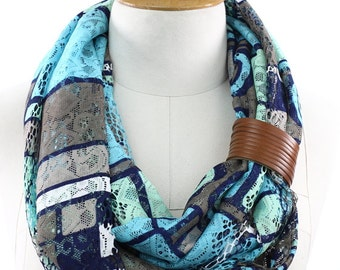 Tulle Scarf Infinity Scarf Shawl Circle Scarf Loop Scarf Gift -Women's Fashion Accessories