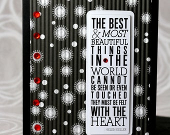 Greeting Card, The Most Important Things in Life Must be Felt with the Heart, Encouragement