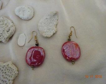Hand made bead earrings